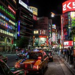 Tokyo at night: There are many nightspots spread throughout the city.
