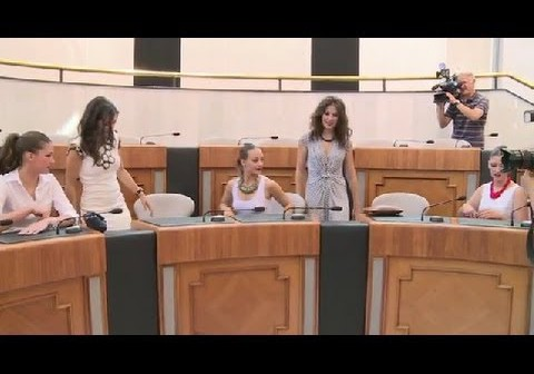 Belleas del Foc 2014 recepción ofrecida hoy por la presidenta de la Diputación de Alicante
